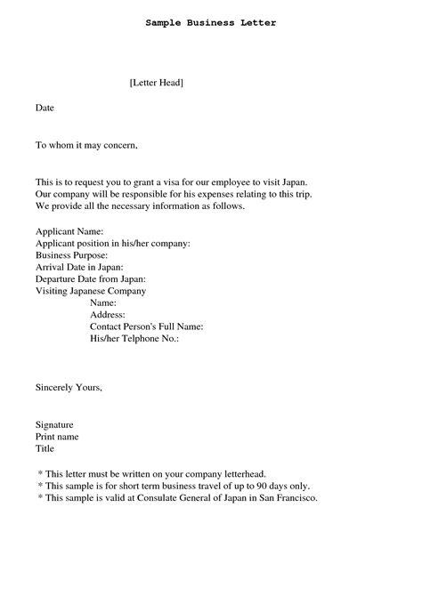 concern letter sample employee