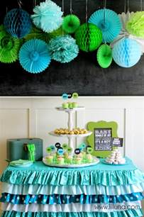 baby shower colors for a aqua and green baby shower