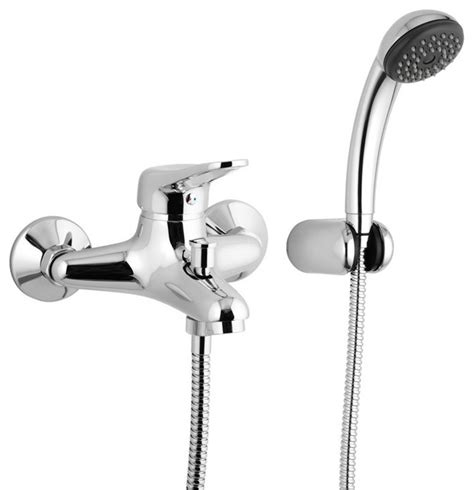 bathtub faucets with hand shower wall mounted single lever bath mixer with bracket and hand shower contemporary