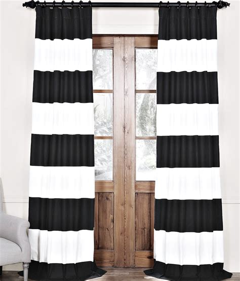 black white striped curtains horizontal diy painted striped curtains