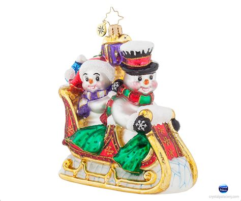 1017931 christopher radko snow motion christmas ornament