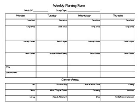 creative curriculum weekly planning form template creative curriculum weekly by for minds