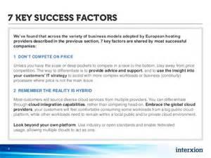 7 key success factors for cloud hosting providers