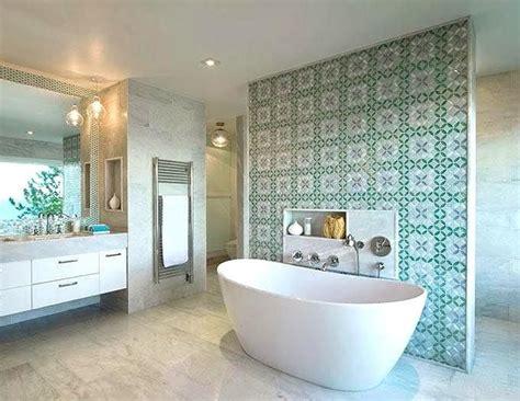 Simple Bathroom Design bath tub feature walls tilejunket