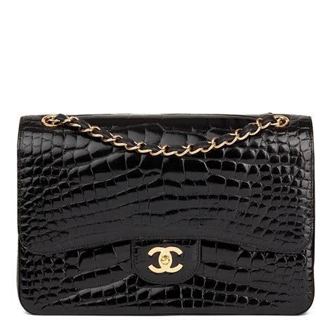 Chanel Semi Shiny Alligator Shopping Bag by Chanel Jumbo Classic Flap Bag 2011 Cb131 Second
