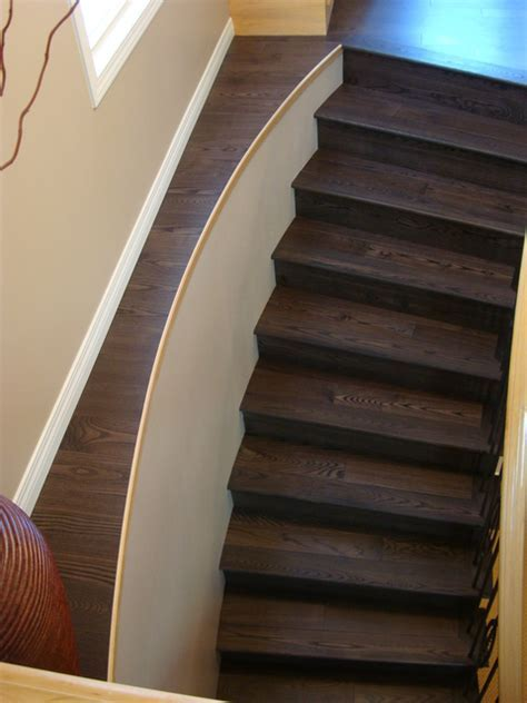 Laminate flooring on ledge next to stairs   DoItYourself