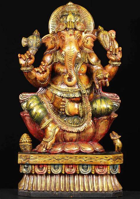 Statues Of Gods Hindu Elephant God Statue Indian Bronze 183 Hindu Brass