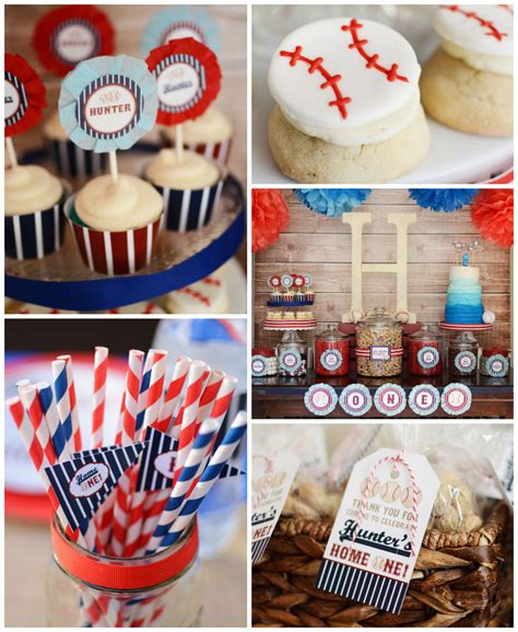 baseball themed decorating ideas home one baseball themed birthday via kara s