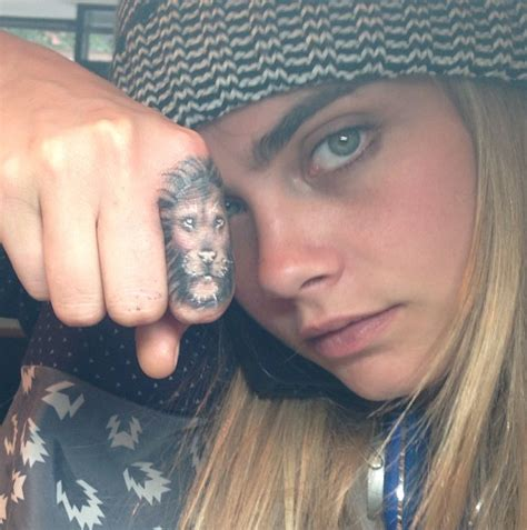 cara delevingne lion tattoo the with aka rihanna s