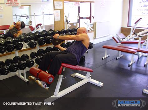 high school bench press average decline weighted twist video exercise guide tips