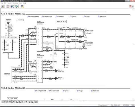 2000 mustang mach 460 wiring diagram mach audio wiring