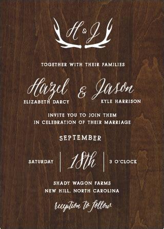 rustic wedding invitation companies wedding invitations without photos
