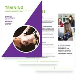 training proposal template free sample