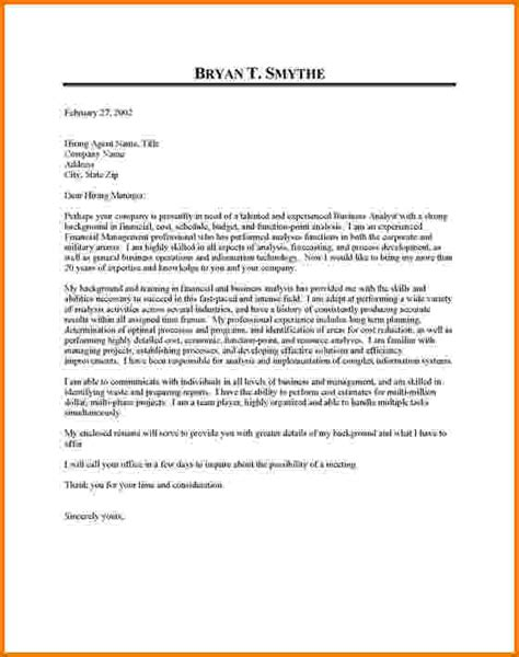 Content Analyst Cover Letter by 10 Financial Analyst Cover Letter Exles Financial Statement Form
