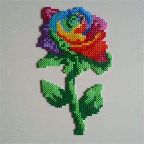 bead of roses hama colorful by sidser on deviantart