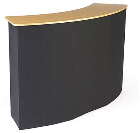 Meja Customer Service pop up counter simple to setup includes inner shelving