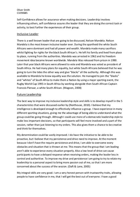 Leadership Essay by Guide To The Writing And Presentation Of Essays Of How To Write A Project Report