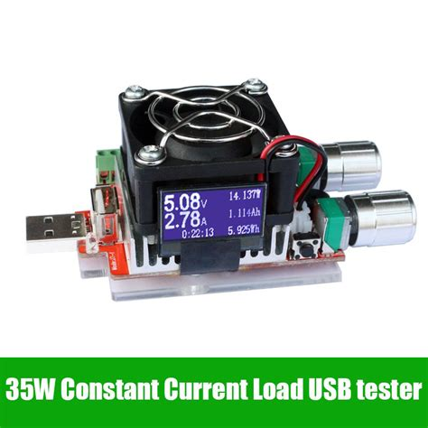 battery load resistor 35w usb electronic load adjustable constant current aging resistor battery voltage capacity