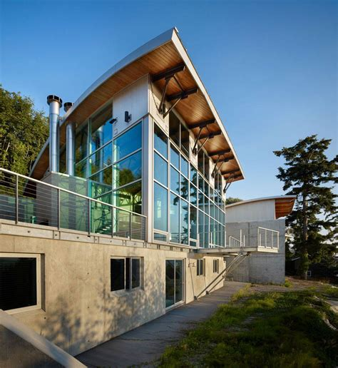 glass walls west seattle residence with spectacular inlet