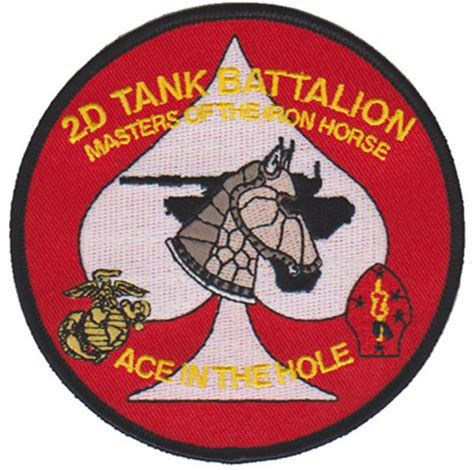 Tnk Marnie Navy 2nd tank battalion patch u s marine corps patches