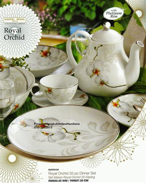 Batik Piring Selad pinggan mangkuk shopping dinner set akopal regal france 2014