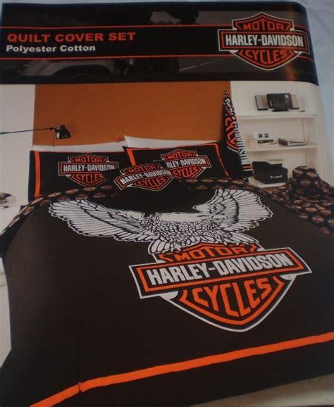 Harley Davidson Quilt Cover Set harley davidson single bed quilt cover set ebay