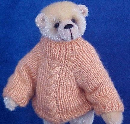 knitting pattern teddy jumper miniature knitting pattern sweater for a teddy by