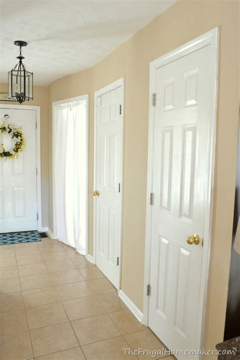 Behr Paint Colors Interior Home Depot Entryway Before And After Beige To Greige With Behr Paint