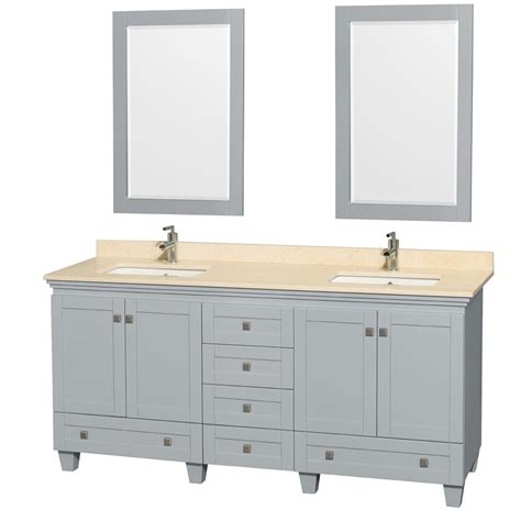 bathroom vanity double marble top accmilan 72 inch double bathroom vanity in grey