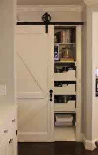 Sliding Pantry Door Hardware by Kitchen Pantry With Sliding Barn Door Traditional