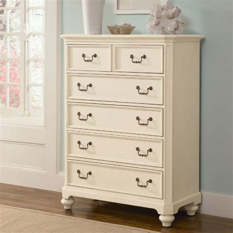 Dresser With Lots Of Drawers Retreat In Antique White 5 Drawer Chest Modern By Rosenberry Rooms