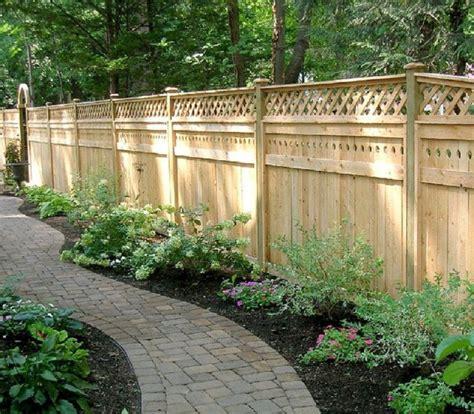 privacy fence designs lattice privacy fence designs