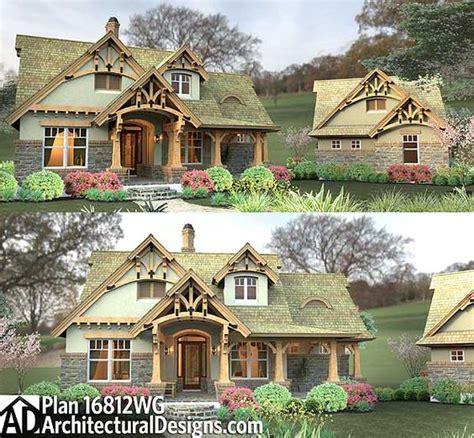 cute bungalow with detached garage house plans and home plan 16812wg rustic look with detached garage craftsman