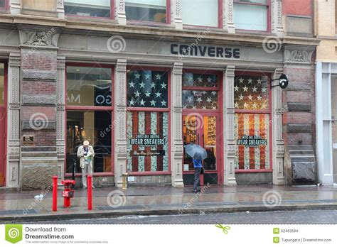rubber st store nyc converse store manhattan editorial stock image image of