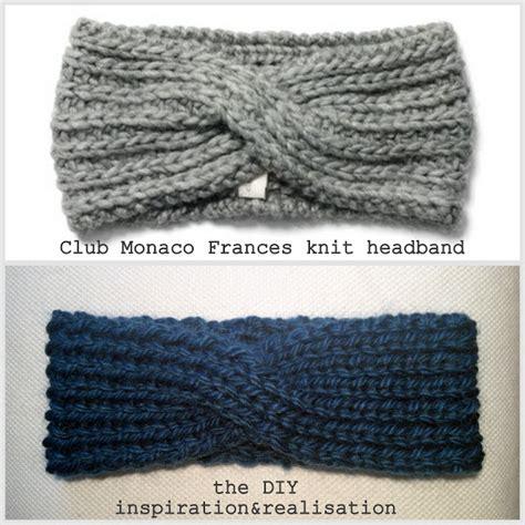 twist headband knitting pattern inspiration and realisation diy fashion diy