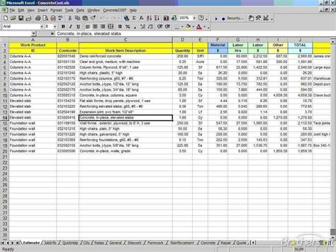 excel costing template cost estimate spreadsheet excel cost estimate spreadsheet