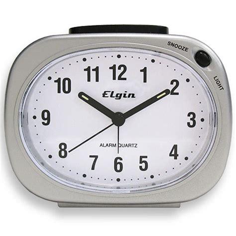 3640e elgin battery powered silver tone analog quartz alarm clock ebay