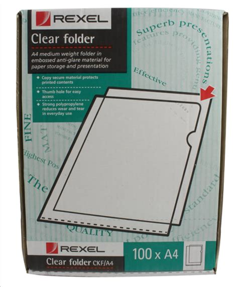Stat Detox Company by Rexel Clear Cut Flush Folders A4 Pack Of 100 12215 From