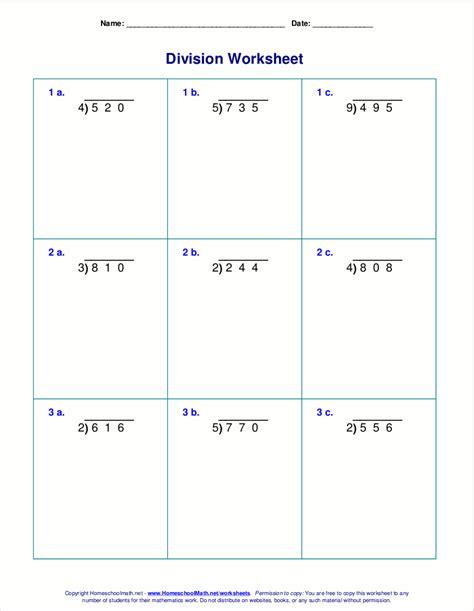 division worksheets for grades 4 6