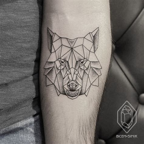 geometric line tattoo geometric wolf regarding wolf geometric