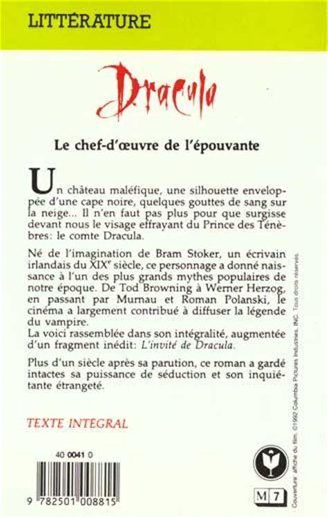 Draculas Resume by Livre Dracula Bram Stoker Acheter Occasion