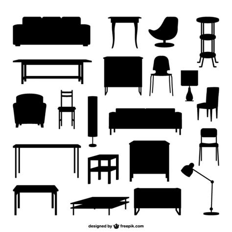 furniture outlines vector free