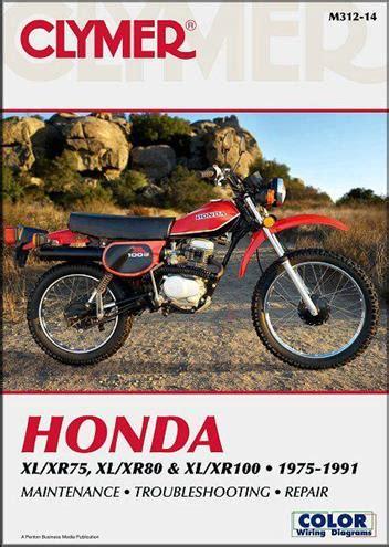 Honda Xl75 Xr75 Xl80 Xr80 Xl100 Xr100 1975 1991