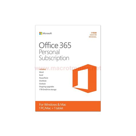 Microsoft Office Personal by Microsoft Office Personal Subscription 365 Softwares