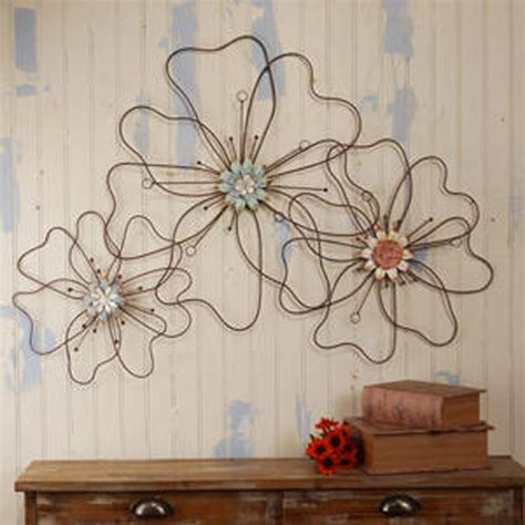 metal flower wall plaque eclectic artwork atlanta