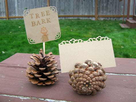 pine cone themed decor fowl single file forest friends baby shower