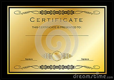 gold medal certificate template gold certificate diploma award template stock