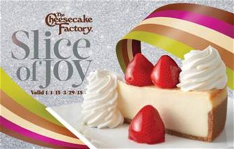 Cheesecake Factory Gift Card Discount - the cheesecake factory brings back slice of joy gift card promo new york trend