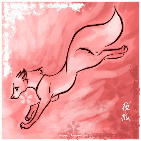 sakura kitsune pictures to pin on pinterest tattooskid