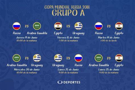 Grupo D Mundial 2018 Grupo A Mundial Rusia 2018